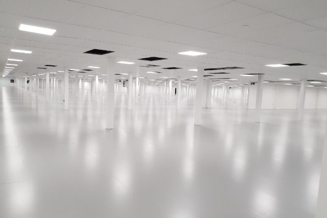 Resin flooring London Warehouse Monarch