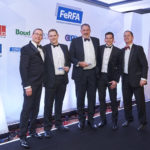 WINNER - SMALL INDUSTRIAL PROJECT OF THE YEAR (Sponsored by Boud Minerals) IRL GROUP and REMMERS for Swiftool Precision Engineering Limited (L-R) Mark Spowage (FeRFA CEO), Tom Dossett (Remmers), Mark Ollerenshaw (IRL Group), Graham Rushmer (Boud Minerals), Kyran Bracken.