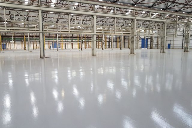 Manufacturing flooring - epoxy resin - Monarch Flooring contractors